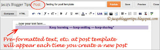 Screenshot to illustrate post template feature = step 5