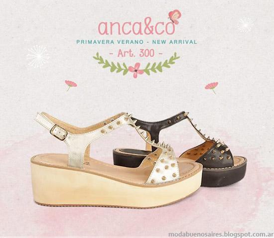Sandalias 2014 Anca & Co sandalias verano 2014. Moda sandalias 2014.