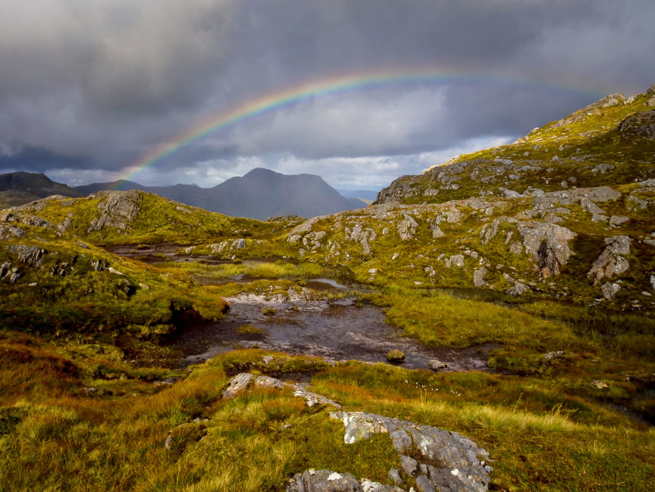 Photo of a rainbow onSgurr an Utha, lochaber