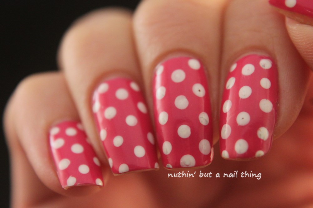 Polka dot nail art design idea