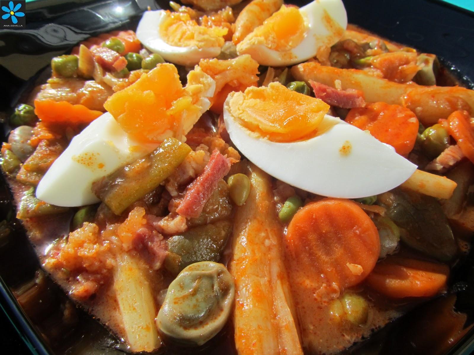 Menestra de verduras r pida - Menestra de verduras en texturas ...