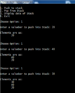 Stack using linked list in c code