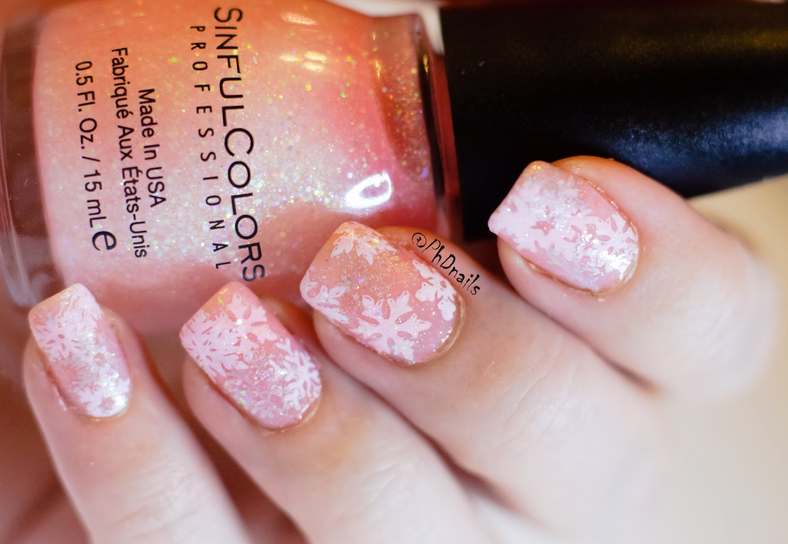 Phd Nails Challenge Your Nail Art Sinful Colors Pinky Glitter And
