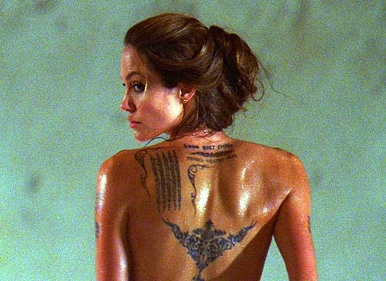 angelina jolie tattoos tiger
