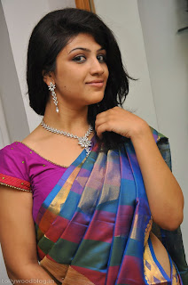 Supriya Looks Beautiful in colorful half saree Long hairs Cute HQ Pics