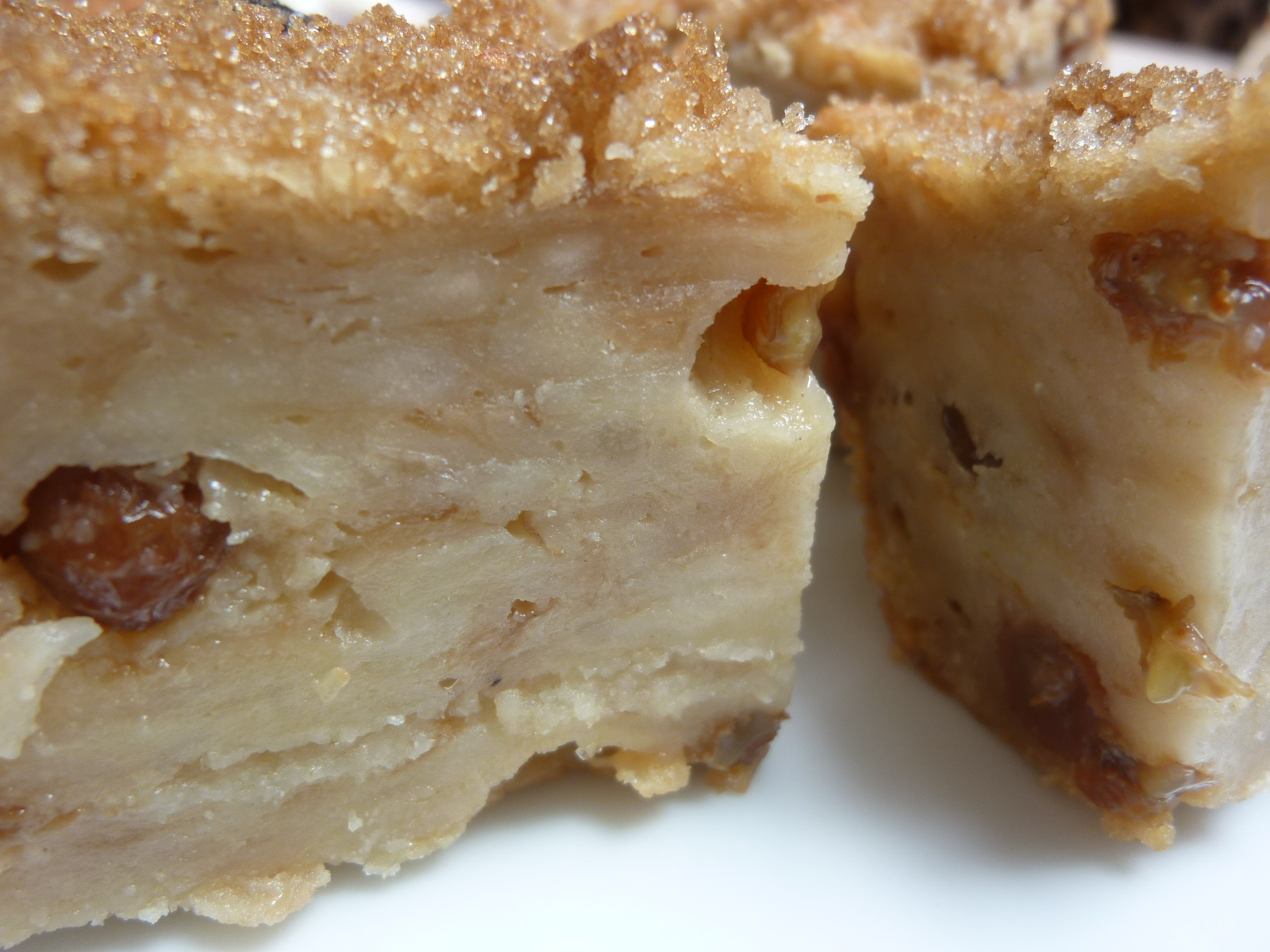 ... most amazing bread pudding he uses coconut milk and coconut cream in