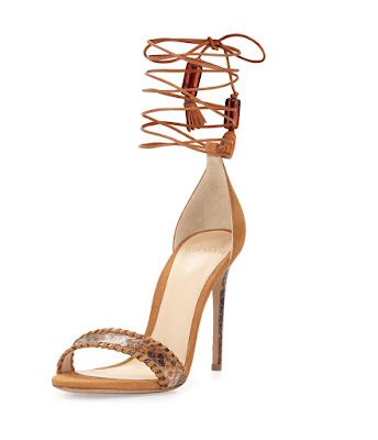 Alexandre Birman leather and python sandals