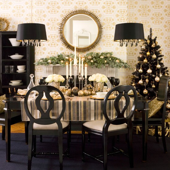 Home quotes christmas decoration ideas for black - Black and silver lounge design ...