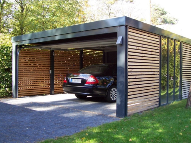 Carport ideas enclosures on pinterest modern carport for Open carport plans