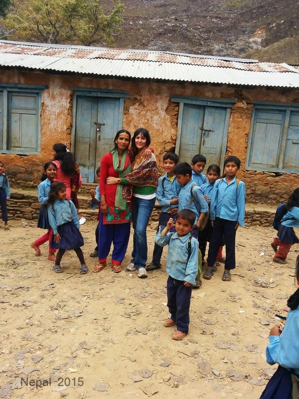 Fotografías en Nepal - La escuela