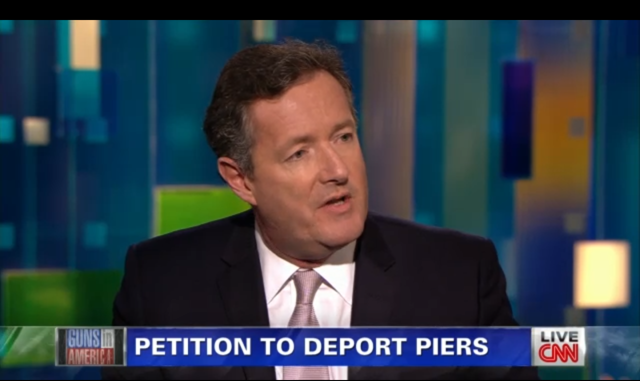 Piers Morgan in favor of gun banned