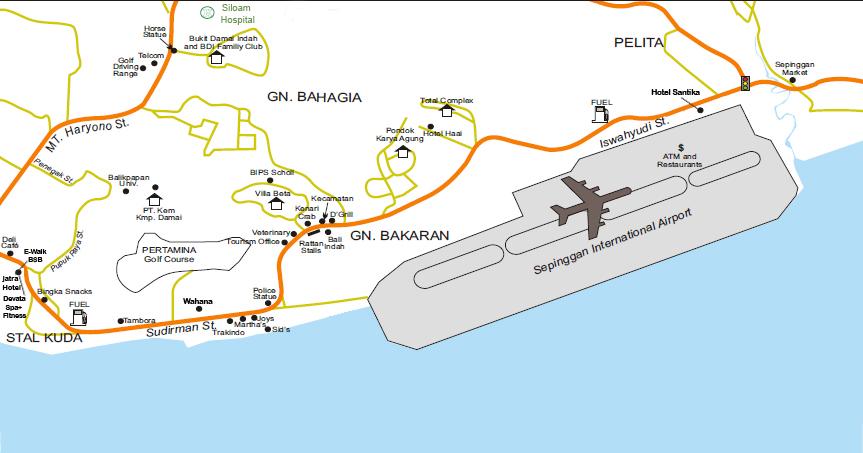 Balikpapan Indonesia  city photo : Balikpapan Indonesia Map Map of Balikpapan