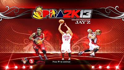 PBA 2K13 Mark Caguioa Titlescreen Cover