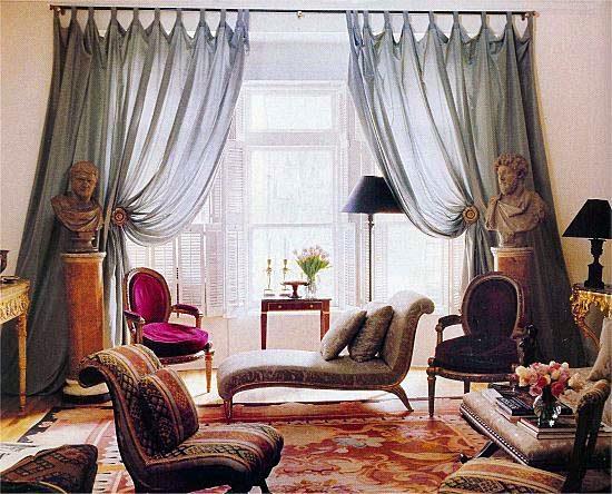 Designer Robert Couturier's Living Room from House & Garden, September 1990.