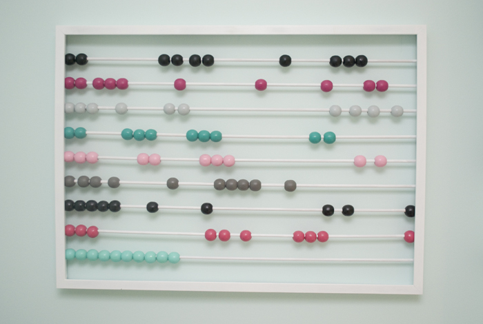 DIY baby abacus