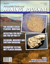 Hughes Creek Placer Mine article in ICMJ, April, 2013
