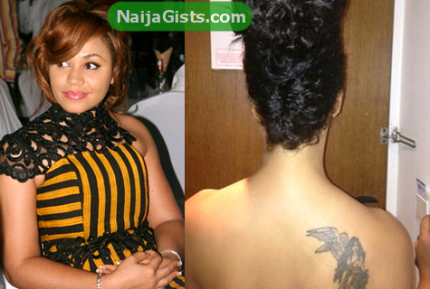 nadia buari tattoo picture