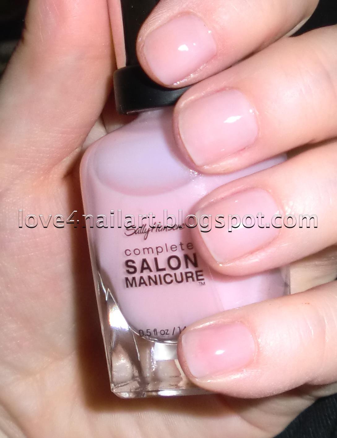 Love4nailart sally hansen complete salon manicure nail polish for Salon manicure