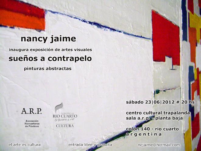 """""""SUEÑOS A CONTRAPELO """" INVITACION MUESTRA INDIVIDUAL A.R.P. Junio 2012"""