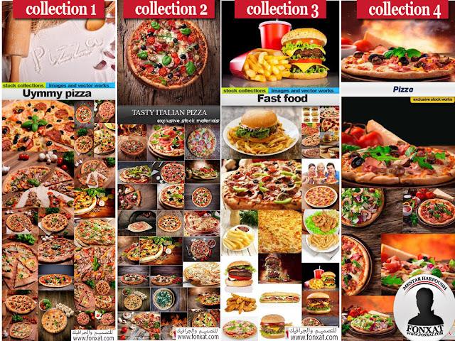 مجموعة صور عالية الجودة والوضوح HD لفطائر وبيتزا