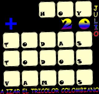 Criptoaritmética, Alfamética, Descubre los números, Criptosuma, Independencia de Colombia, 20 de Julio