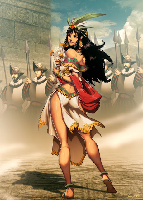 Malinche , Genzoman, hot anime girl