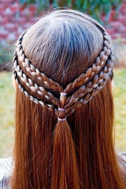 Triple Braided Half Up