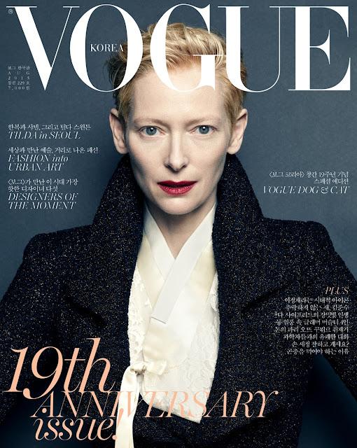 Actress @ Tilda Swinton - Vogue Korea, August 2015