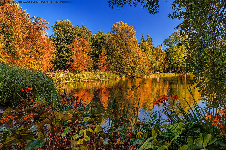 Łazienki Królewskie in autumn