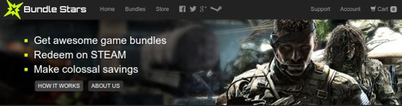 Captura de pantalla de la cabecera de Bundle Stars