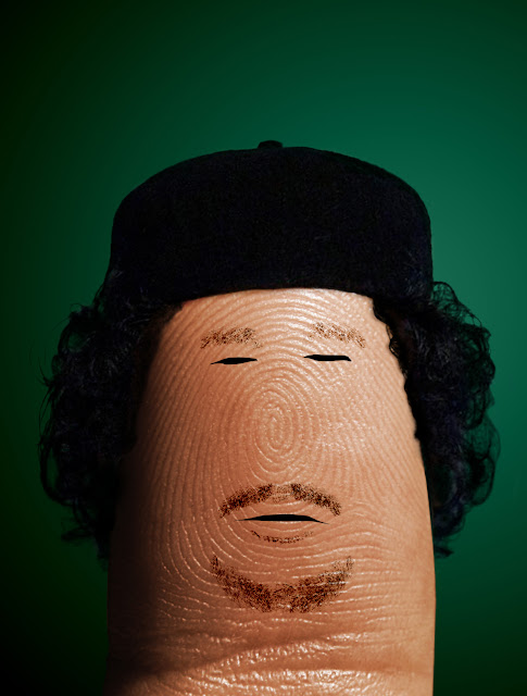 Ditology fingerprint art! DitoGheddafi