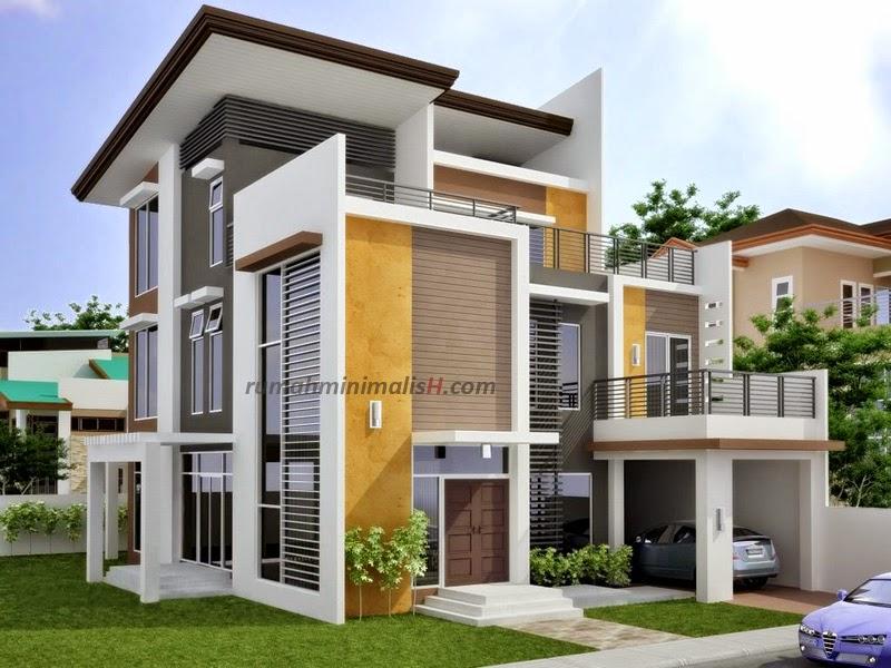Desain Rumah Minimalis 2 Lantai Pojok