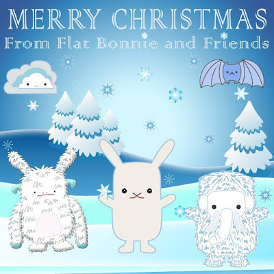 Merry Christmas from Flat Bonnie!