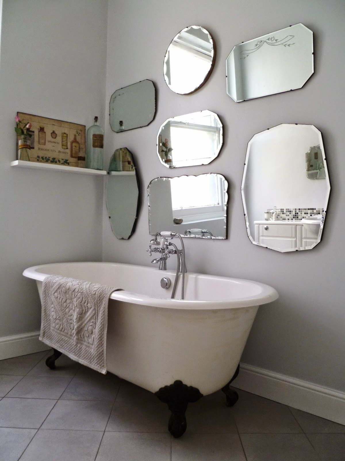 La Fabrique à Déco: Une salle de bain à l\'esprit vintage