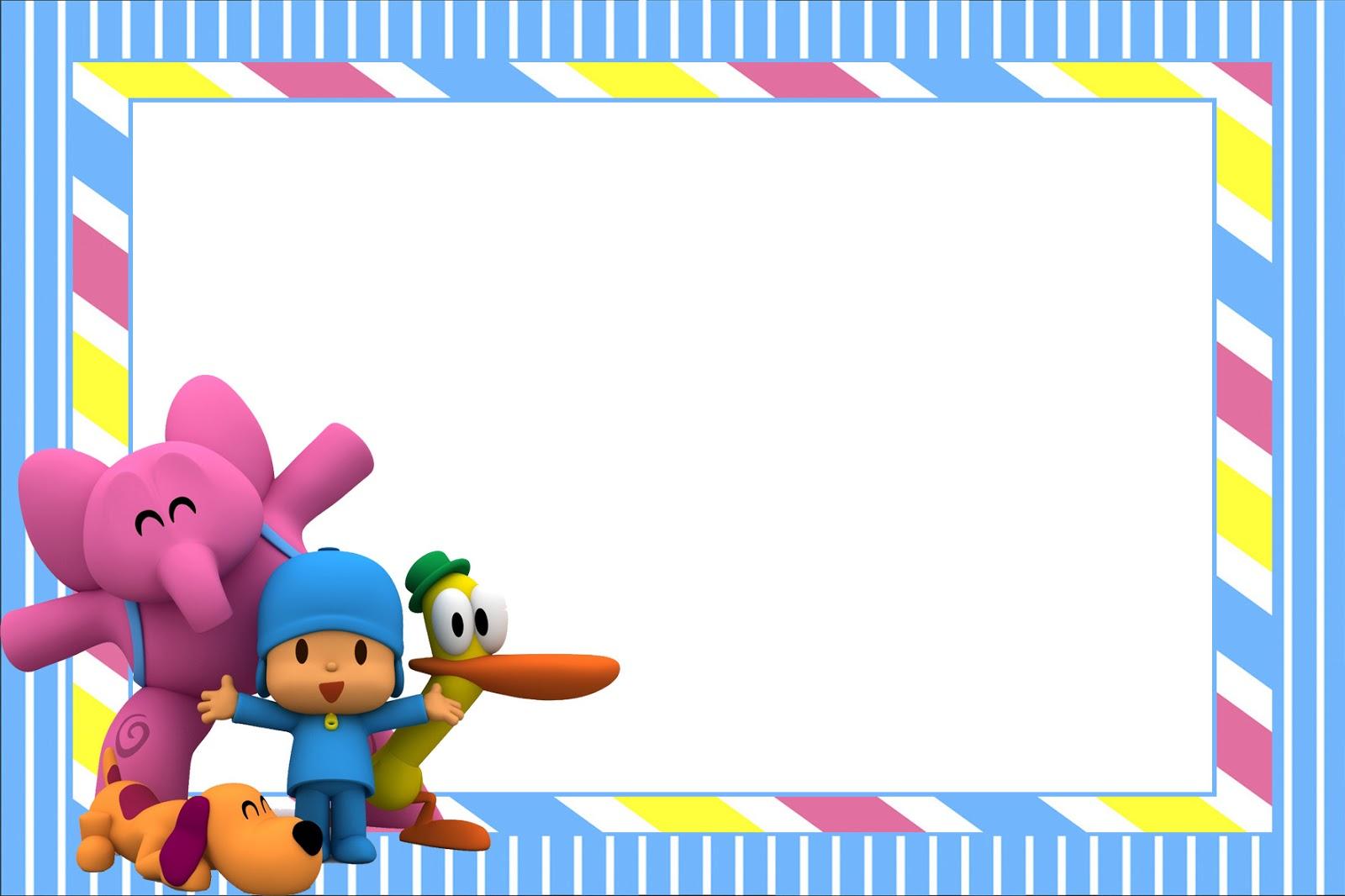 Pocoyo montando minha festa for Pegatinas de pared infantiles