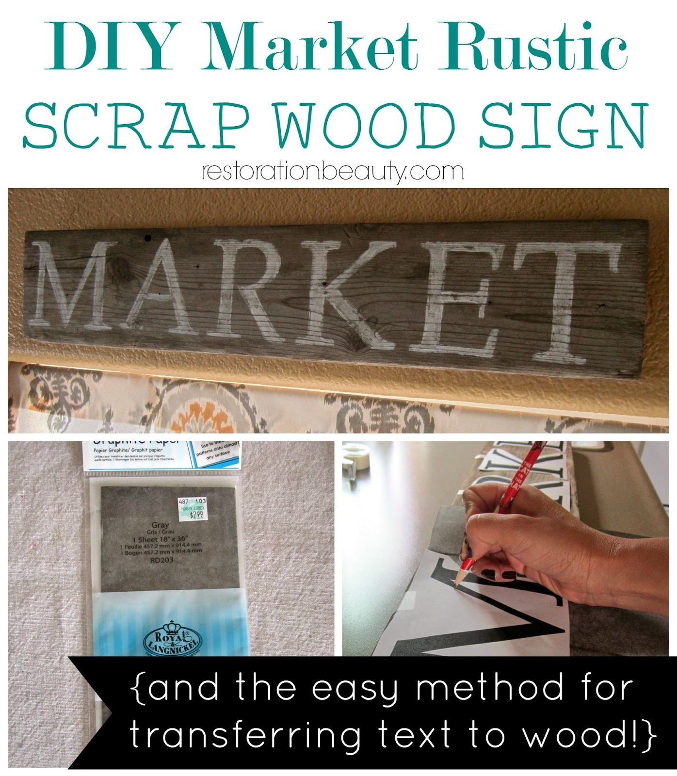 easy text to wood transfer, diy sign, rustic sign