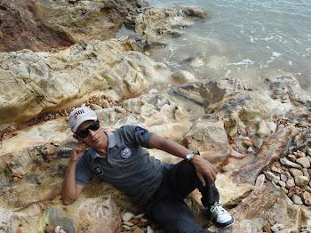 Ferdy di Pantai Pasir Padi Pangkalpinang