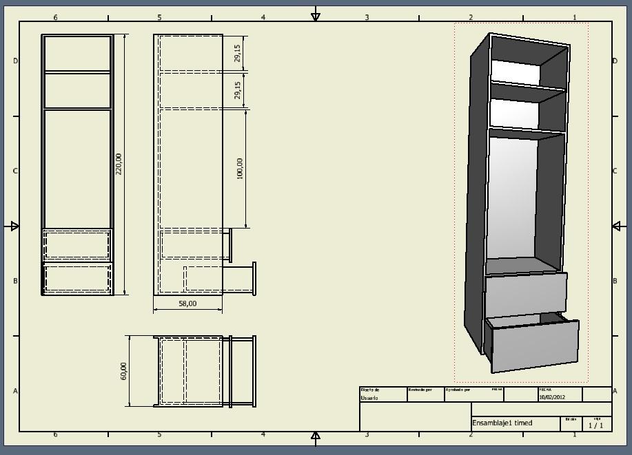 Bluesketch dise o industrial mueble cocina for Muebles de diseno industrial