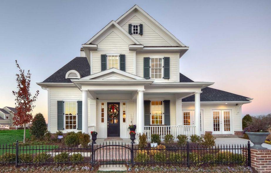 desain sketsa rumah eropa dua lantai terkini