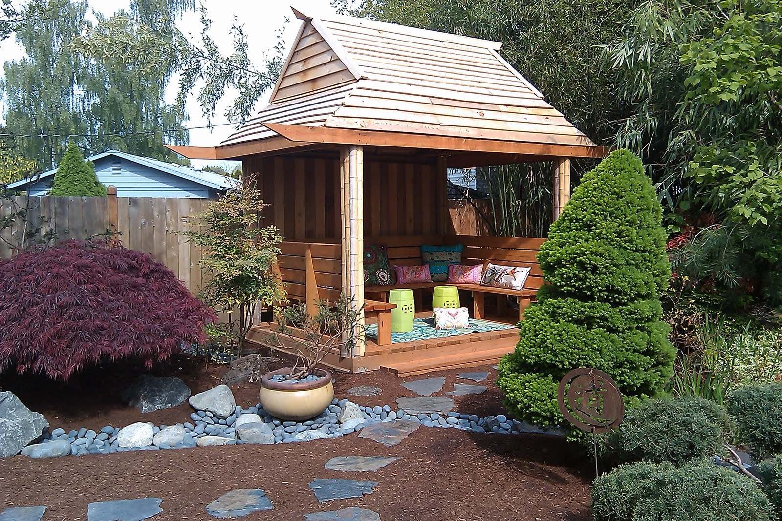 consider it done construction backyard tea house rh oregoncidc blogspot com build a backyard tea house The Outside of a Japanese Tea House