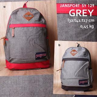jual online tas ransel jansport grey model terbaru harga murah