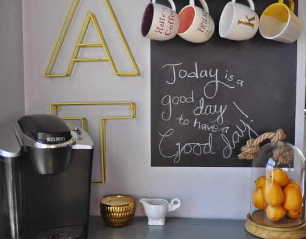 chalkboard coffee bar