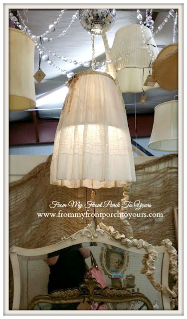 DIY Lampshade-A Day Antiquing- Antique Shopping