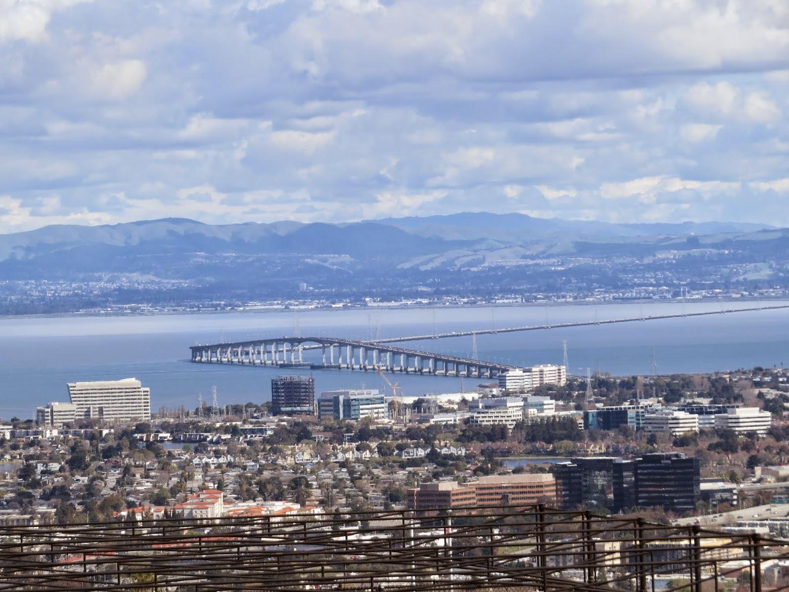 San Mateo Bridge and views of the San Francisco Bay