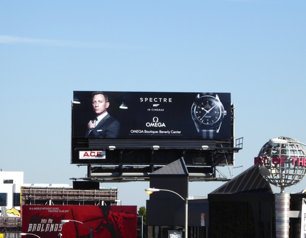 James Bond Spectre Omega watch billboard