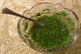 Glass Dish of Ravigote Sauce