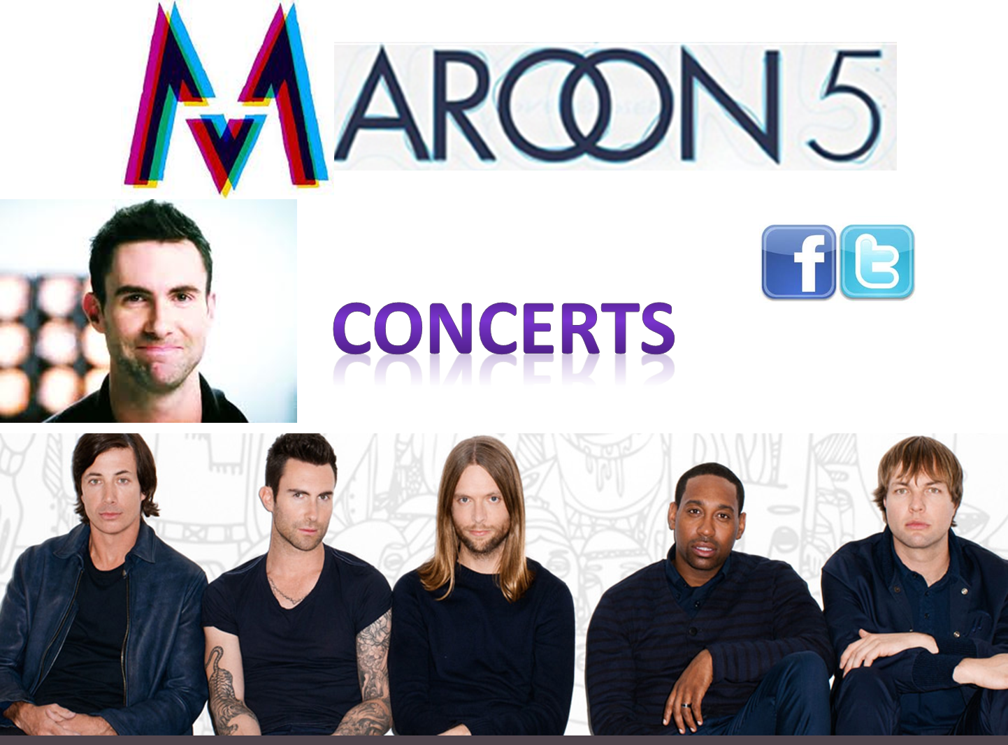 fans de maroon 5 pr sentation de maroon 5 et ses membres. Black Bedroom Furniture Sets. Home Design Ideas