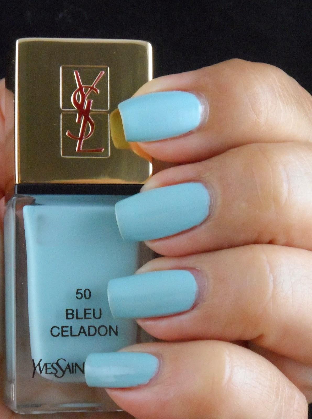 just me and my nails yves saint laurent bleu celadon. Black Bedroom Furniture Sets. Home Design Ideas