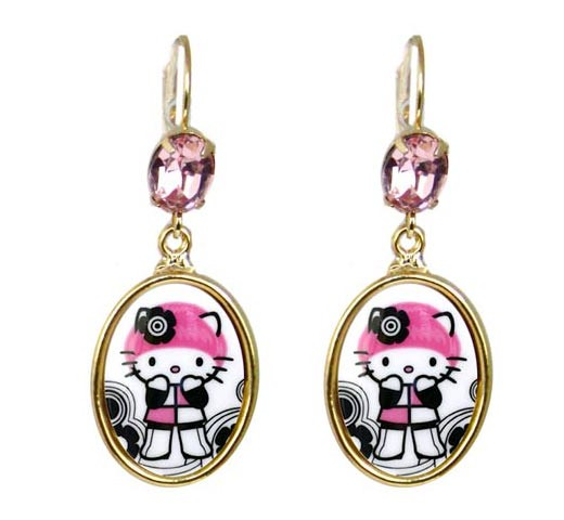 Tarina Tarantino Hello Kitty Earrings