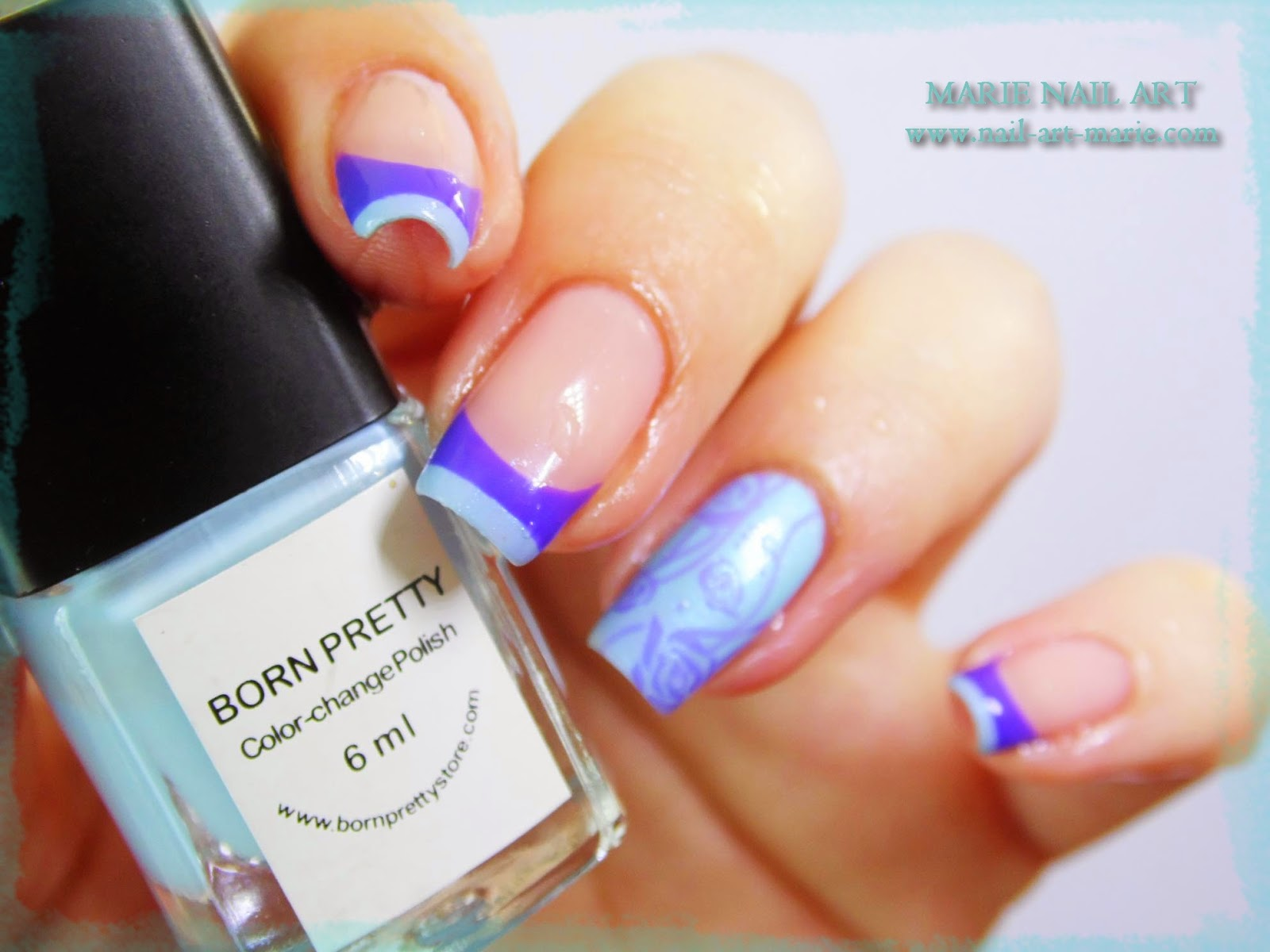 Nail Art Double French Thermique2